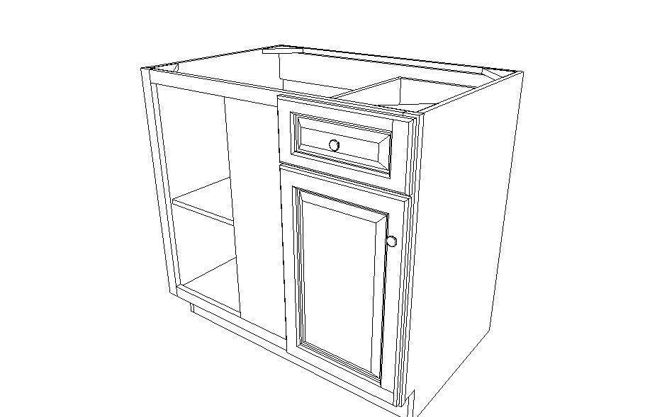 "BBLC45/48 R-42""W Base Blind Corner Cabinet Pacifica (PC)"