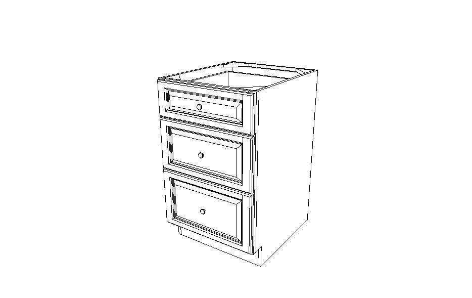 DB21(3) Drawer Base Cabinets Signature Pearl (SL)