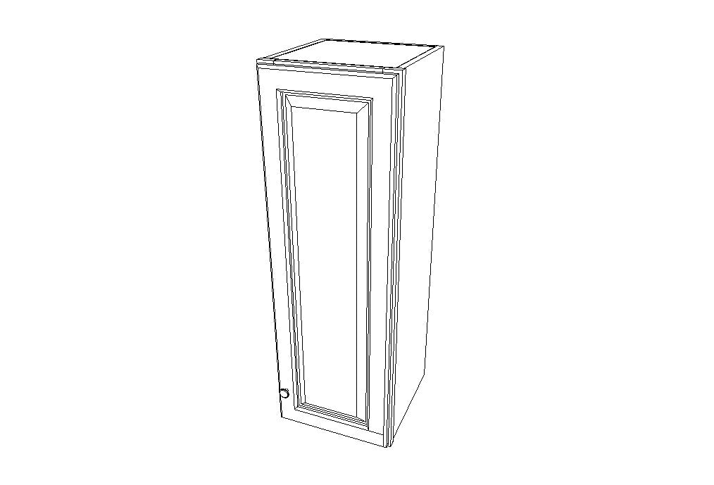 W1242 Wall Single Door Cabinets 42'' Height Uptown White (TW)