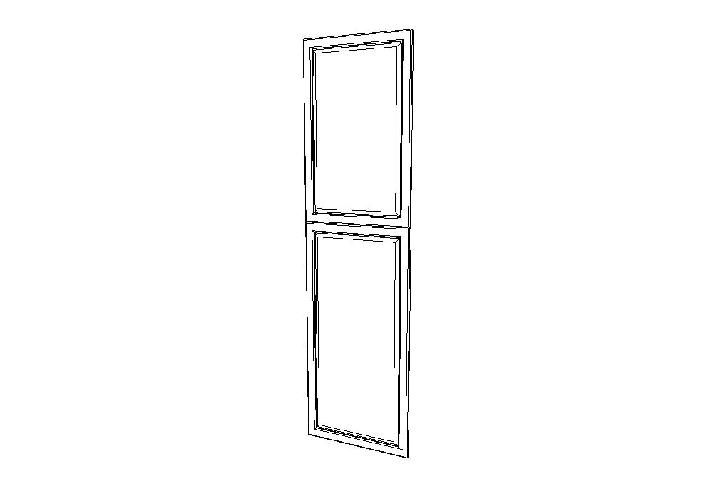 EPWP2490D End Decorative Doors Gramercy Midnight (GM)