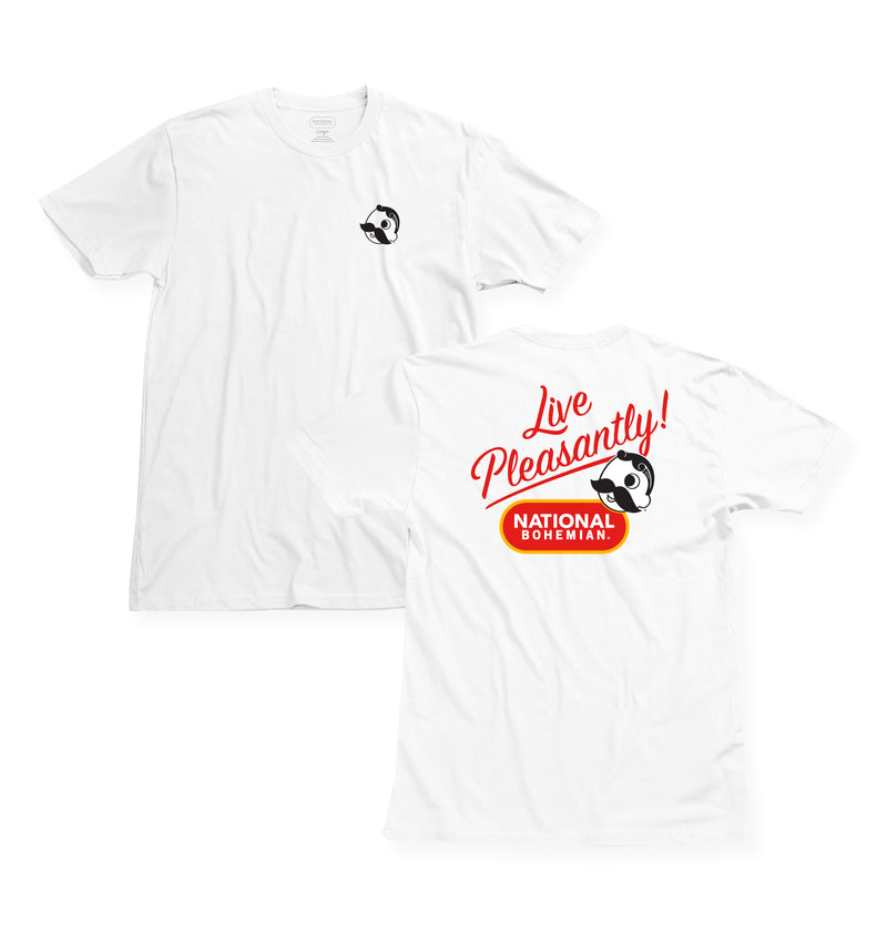 Live Pleasantly Tee - White