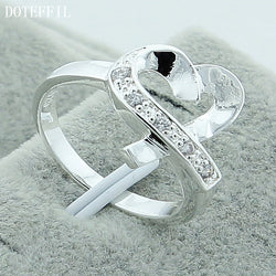 925 Silver Love Heart Ring