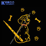 Moving Dalmation Tail Reflective Rear Wiper Decal