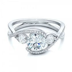 925 Sterling Silver 2 CT Simulated Diamond Ring
