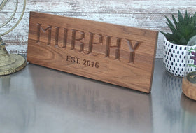 Custom Wood Sign, Anniversary Gift