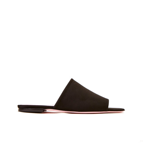 Phare Seta slide in black silk satin