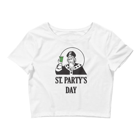 St. Party's Day Women's Crop Tee