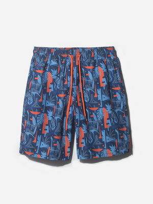BRIGHTON SWIM SHORT BLUE PRINT ONS CLOTHING