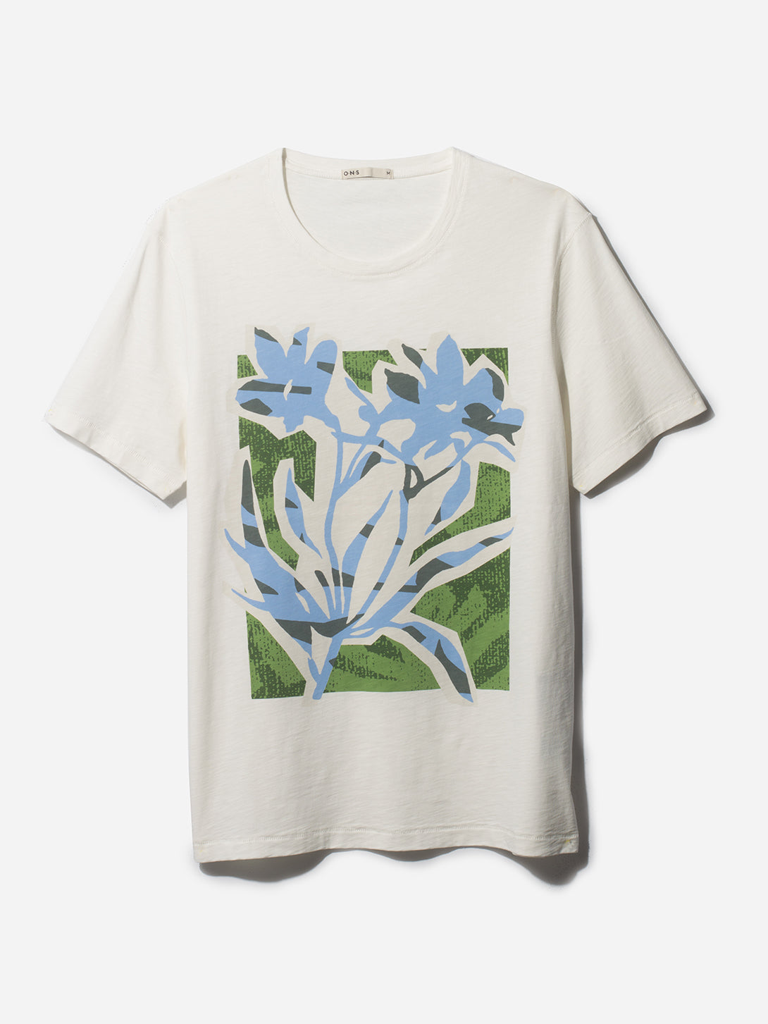 FLOWER VILLAGE CREW BLUE ONS CLOTHING