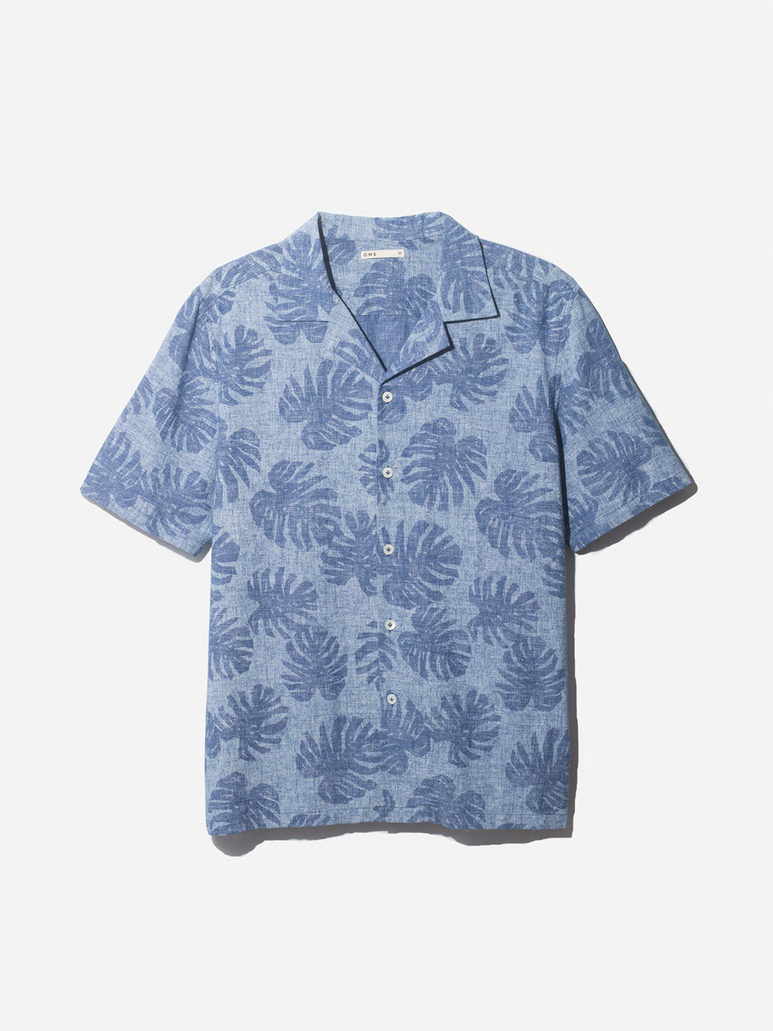 ROCKAWAY PRINT SHIRT INDIGO ONS CLOTHING