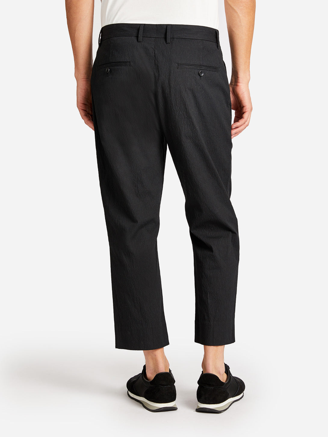 COUNDUIT PACKABLE PANT JET BLACK ONS CLOTHING
