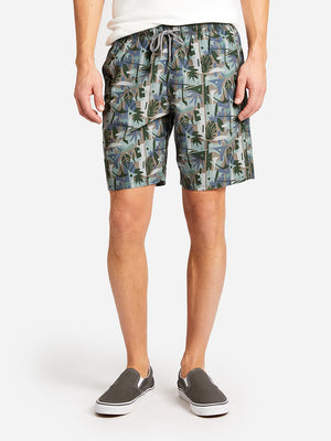 BRIGHTON SWIM SHORT DK. GREEN PRINT ONS CLOTHING