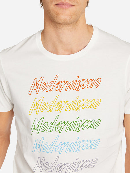 MODERNISMO PRINT TEE WHITE ONS CLOTHING