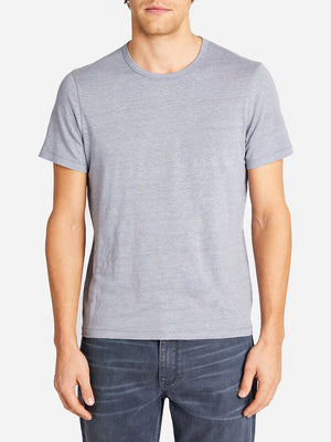 CREW NECK TEE SHIRT SLATE BLUE ONS CLOTHING