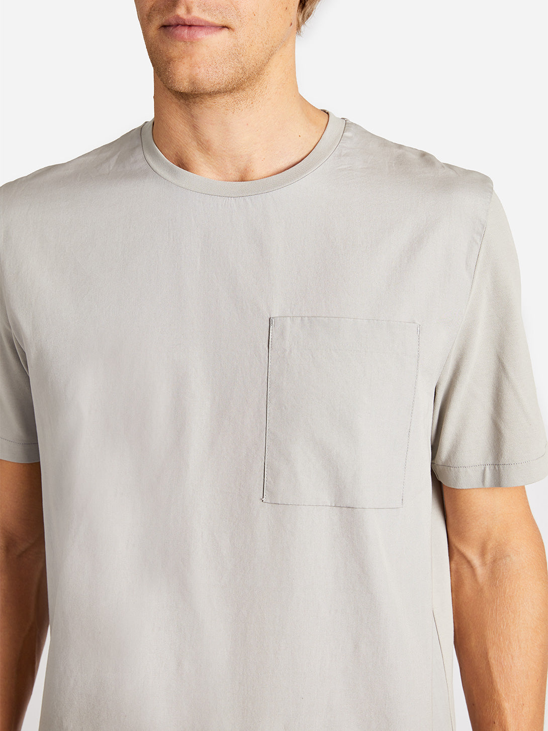LENOX POCKET TEE CEMENT ONS CLOTHING GREY LABEL