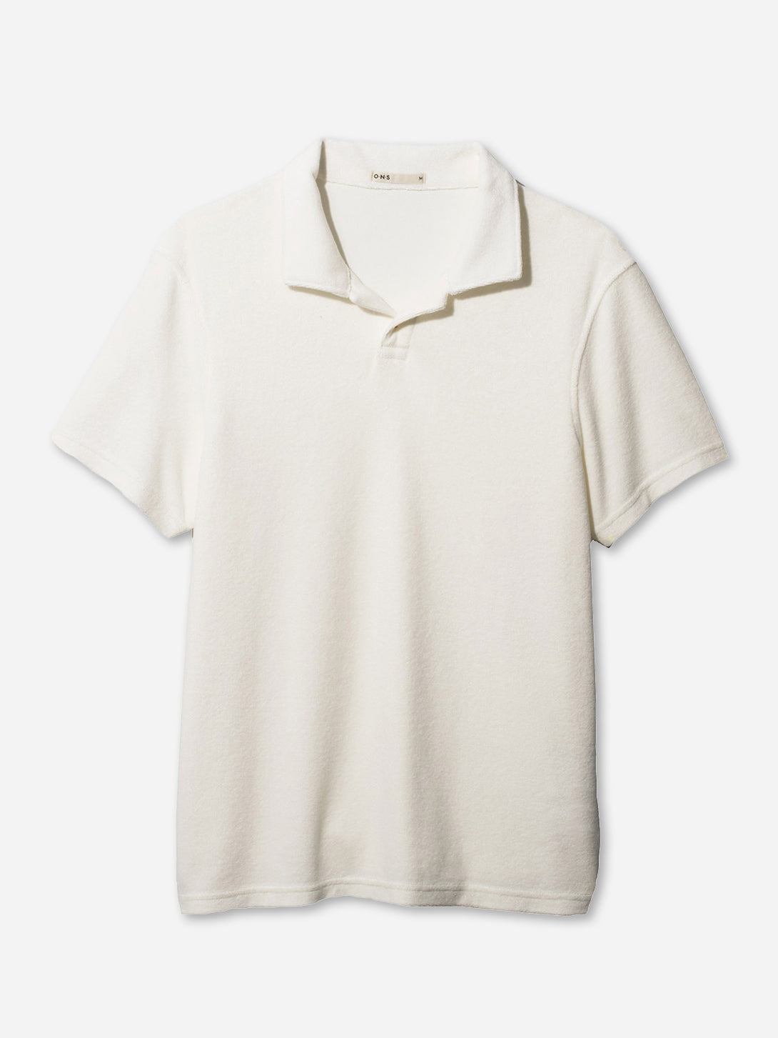 REVERSE TERRY POLO WHITE ONS CLOTHING