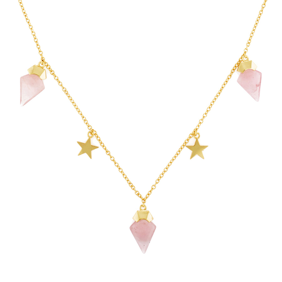 rose quartz choker necklace gold star necklace boho jewellery womens fine jewellery layering necklaces perfect for layering