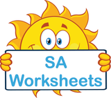 SA Special Needs Worksheets and Flashcards completed using SA Modern Cursive Font