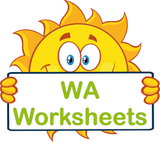 WA Special Needs Worksheets and Flashcards completed using VIC Modern Cursive Font