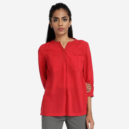 Ladies formal shirts for women tops for women western black top for women western wear black and white cotton top