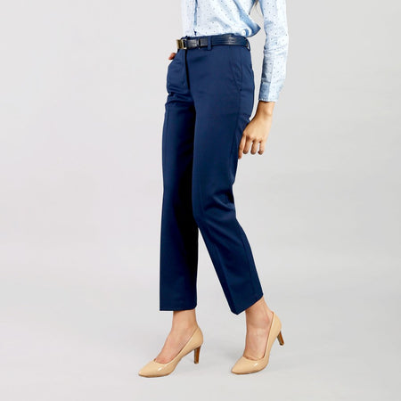 Sailor Blue Straight Fit Trousers