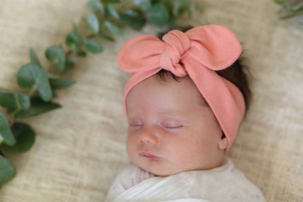 Topknot Headband - Peach