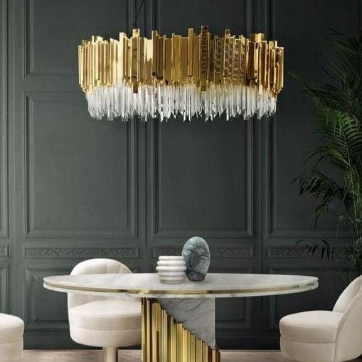 Strathbury Gold Luxe Crystal Chandelier - Home Cartel ®