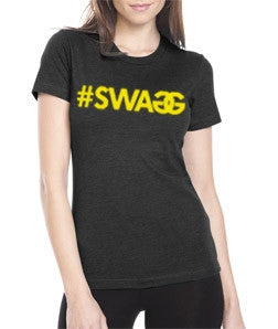 Pauly D SWAGG T-Shirt Black With Gold Womens