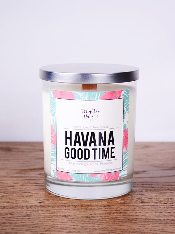 Summer decor Candle - Vegan Soy Candle Havana Good Time