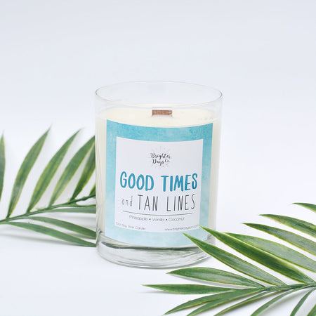 Good Times & Tan Lines<br>Hand Poured Vegan Soy Candle