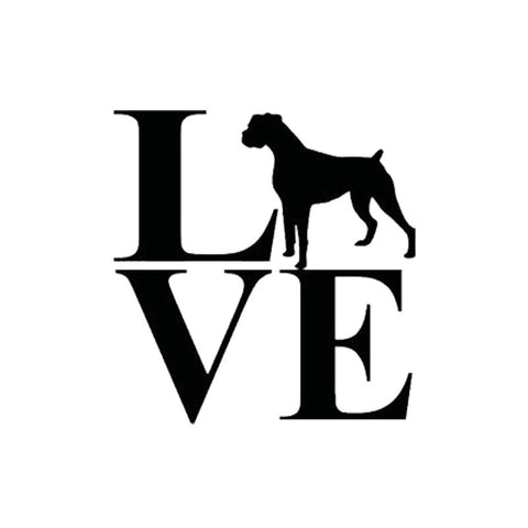 Love Boxer Car Sticker