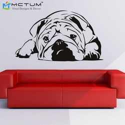 English Bulldog Wall Art Sticker