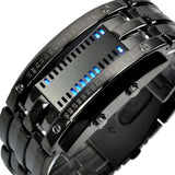 Fashion Creative Men's Watch - Binary Iron Metal Style
