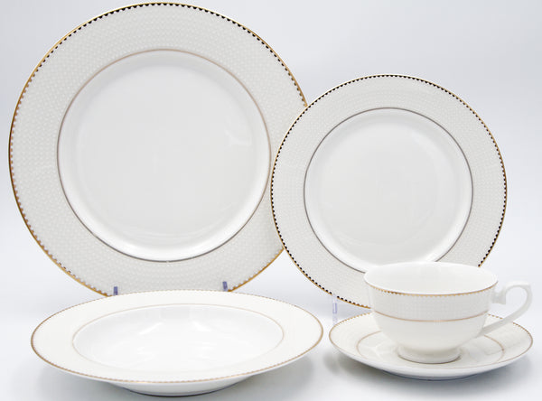 Pamela Bone China Dinner Set, 20 Piece