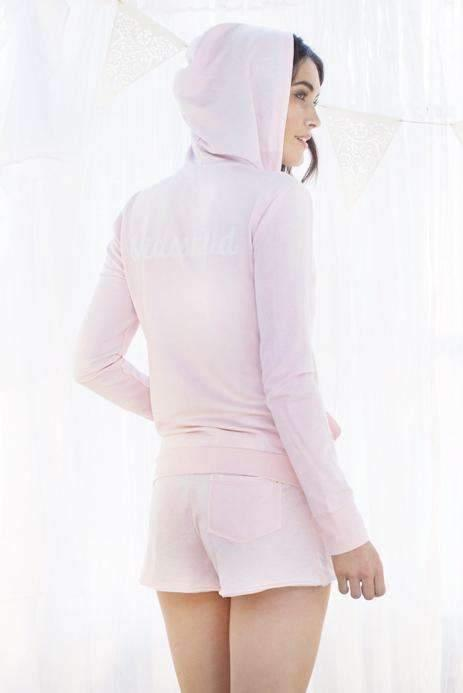 Undrest Burn-Out Terry Hoodie-Honeydew Intimates-Blush-Extra Small-Honeydew Intimates