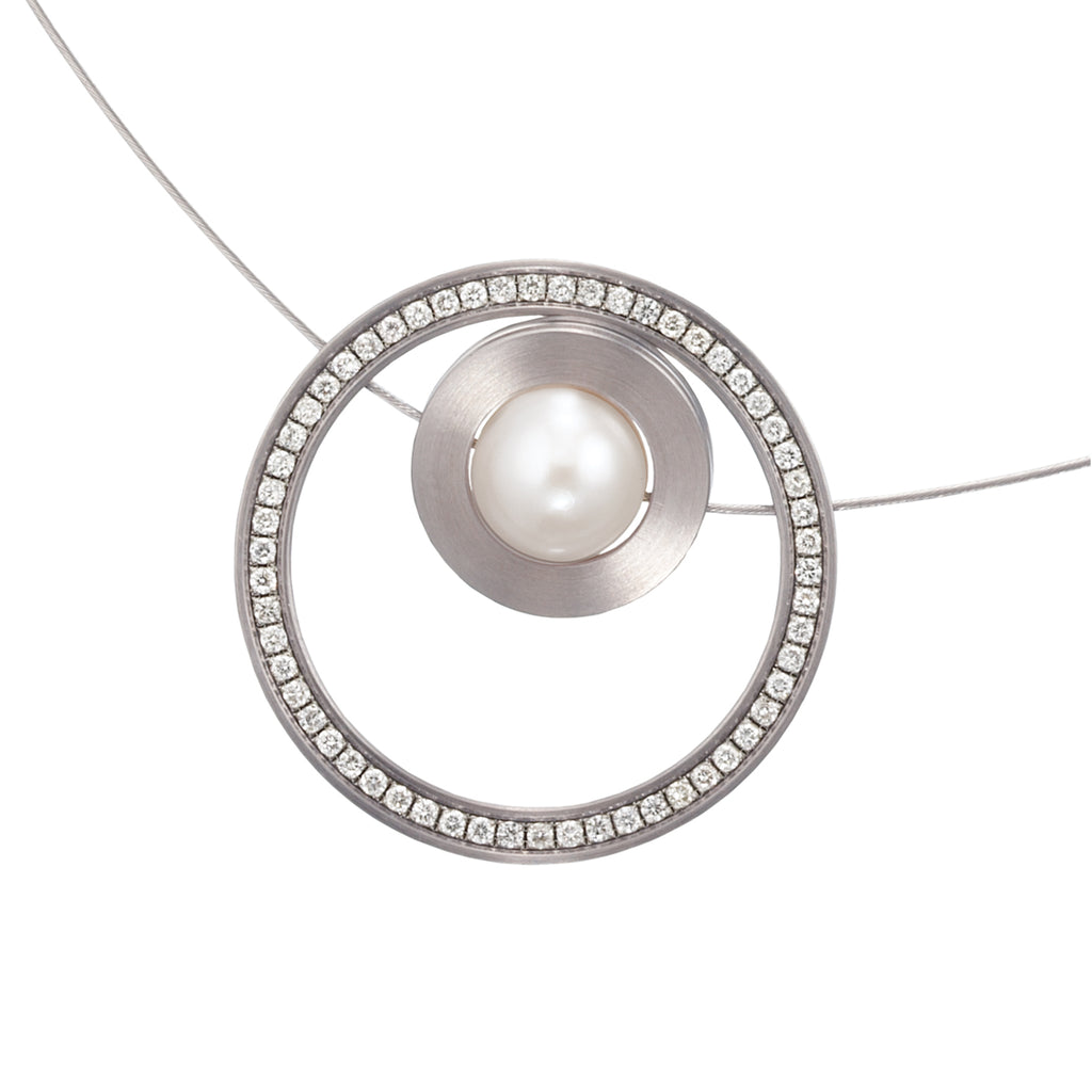 019.39PWP03 TeNo Steel Pearl Necklace