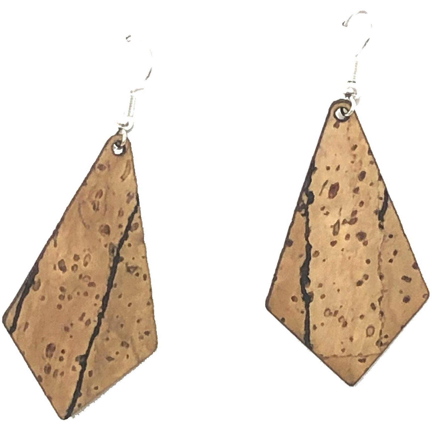 Cork Geometric Earrings - Double Sided Cork
