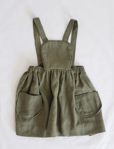 Marta Apron Dress Dried Herb