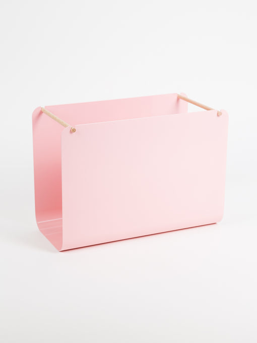 Arc File Basket, Blush