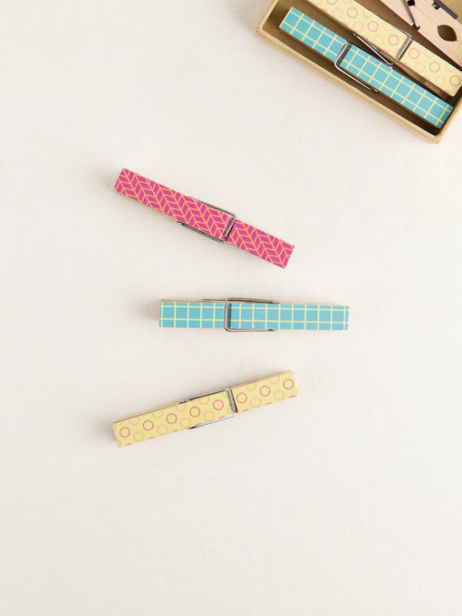 Bright Clothespin Magnets, Set of 6