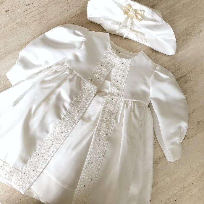 Frazer and James of Knightsbridge Ivory Dress Set
