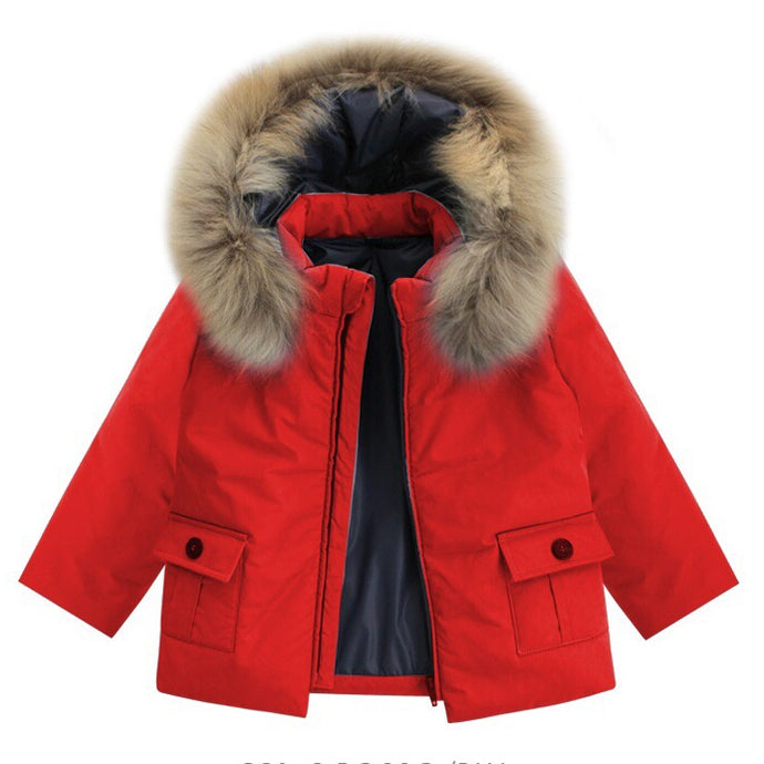 Bufi Boys Red Padded Puffer Coat