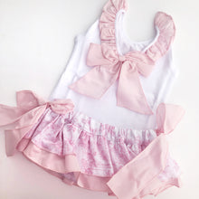 Phi Clothing Girls White and Pink Ruffle Top