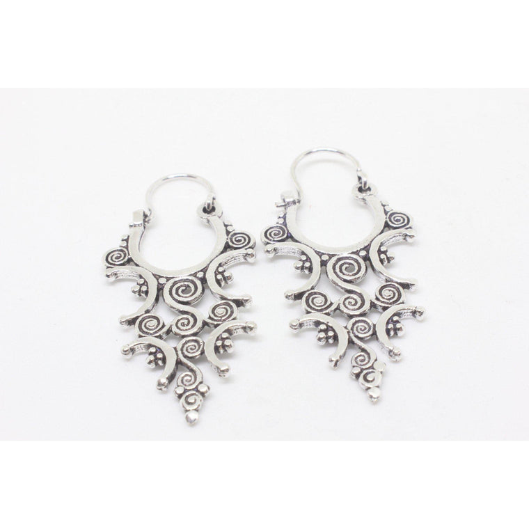 Camellia Silver Plated Earrings