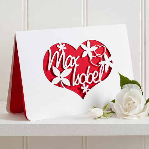 Love Couple Papercut Card