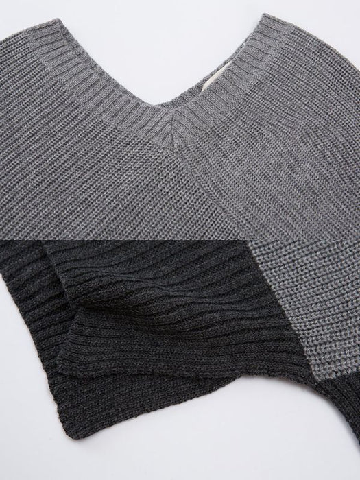 Batwing Casual Solid Sweaters-Sweaters-Chicloth
