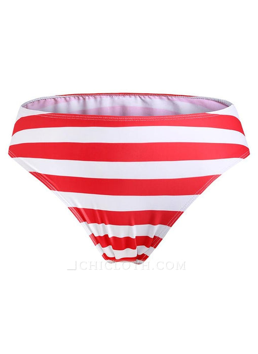 B| Chicloth Plus Size Striped Swimsuit Push Up Swimwear Backless Bathing-nylon,polyester,plussizeswimsuit-Chicloth
