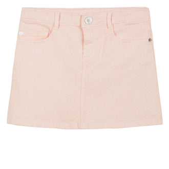 Denim Logo Light Pink Skirt