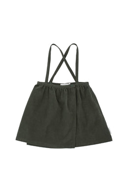 Green Cords Wrap Over Braces Skirt