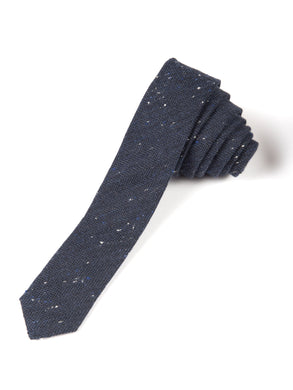 Navy Speckle Herringbone Tie